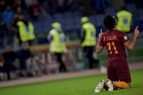 Hatrik Mohamed Salah Membawa AS Roma Menang 3 – 0 Atas Bologna