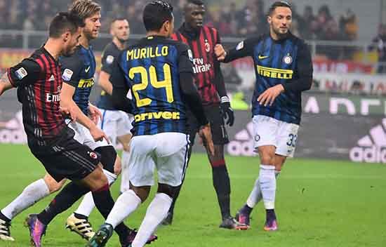 Inter Milan  Menahan Imbang AC Milan 2 – 2 Pada Derby della Madonnina