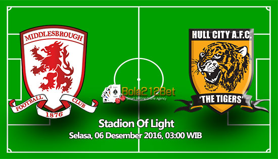 Prediksi Middlesbrough vs Hull City 6 Desember 2016